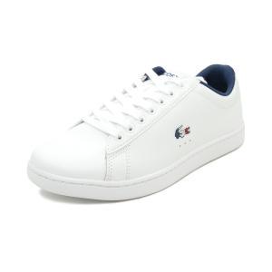 スニーカー ラコステ LACOSTE カーナビーエヴォ TRI 1 ホワイト/ネイビー/レッド SFA0048-407 レディース シューズ 靴 20Q1|pistacchio