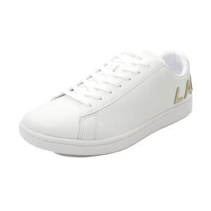 スニーカー ラコステ LACOSTE カーナビーエヴォ 0120 5 ホワイト/ゴールド SM00860-216 メンズ シューズ 靴 20Q3|pistacchio