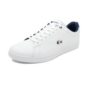 スニーカー ラコステ LACOSTE カーナビーエヴォ1197SMA ホワイト/ネイビー/レッド メンズ シューズ 靴 19SS|pistacchio
