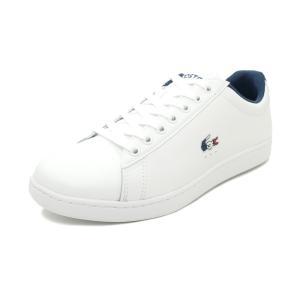 スニーカー ラコステ LACOSTE カーナビーエヴォ TRI 1 ホワイト/ネイビー/レッド SMA0033L-407 メンズ シューズ 靴 20Q1|pistacchio