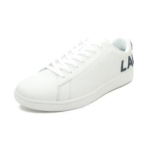 スニーカー ラコステ LACOSTE カーナビーエヴォ 120 7 US ホワイト/ネイビー SMA0052-042 メンズ シューズ 靴 20Q1|pistacchio