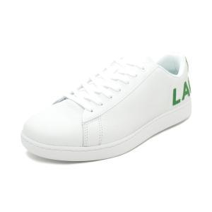 スニーカー ラコステ LACOSTE カーナビーエヴォ 120 7 US ホワイト/グリーン SMA0052-082 メンズ シューズ 靴 20Q1|pistacchio