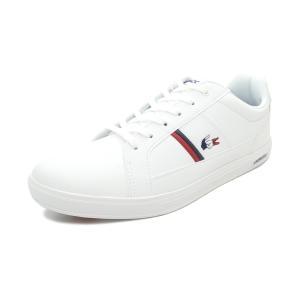 スニーカー ラコステ LACOSTE エウロパTRI1 ホワイト/ネイビー/レッド SMA031L-407 メンズ シューズ 靴 20Q1|pistacchio