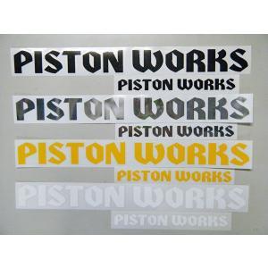 PISTONオリジナル 「PISTONWORKS」ステッカー 小サイズ|piston