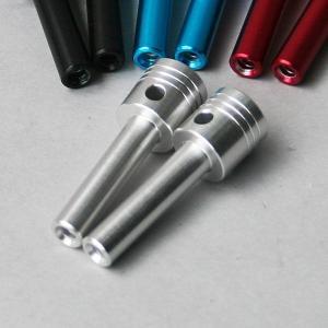 タニグチ「ピストン形状ドアロックノブ 1本」シルバー|piston