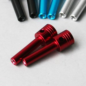 タニグチ「ピストン形状ドアロックノブ 1本」レッド|piston