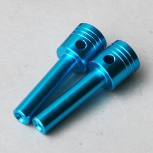 タニグチ「ピストン形状ドアロックノブ 1本」ブルー|piston