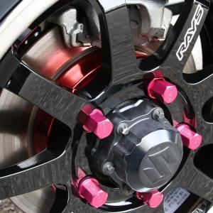 ハイブリッジファースト 「フロントブレーキディスクセンターカバー」レッドアルマイト HB1st |piston