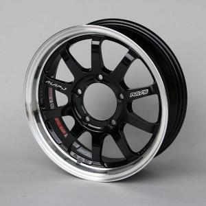 ジムニーホイール RAYS A・LAP−J ブラック/リムDC 5本セット|piston