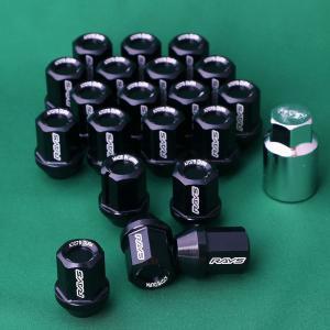RAYS「NEWジュラルミンロックナットセット L32 ストレートタイプ ブラック」レイズ|piston
