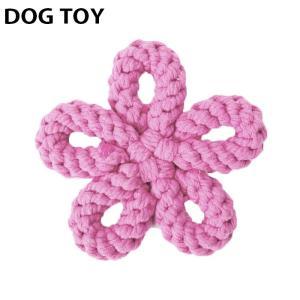 ●ITEM:犬用 おもちゃ お花 フラワー ワンちゃん用 犬 いぬ ドッグ ぬいぐるみ ロープ ペッ...