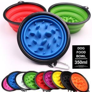 ドッグ 折りたたみフードボウル フードボール 早食い防止 カラフル 犬 ネコ 猫 食器 皿 水入れ ...