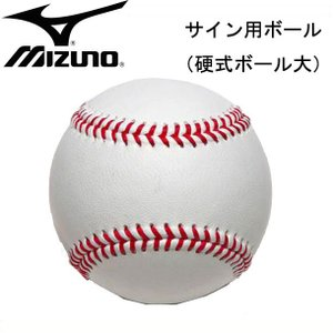 サイン用ボール(硬式ボールサイズ)【MIZUNO】ミズノ 野球 サイン用ボール (2ZO132)