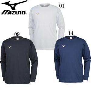 Tシャツ(長袖)(ユニセックス) MIZUNO ミズノトレーニングウエア ミズノ長袖Tシャツ18SS (32JA8132)|pitsports