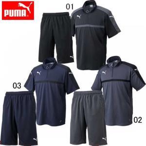 TWV SS スウェットシャツ パンツ 上下セット(メンズ) 【PUMA】プーマ ●サッカーウエア (654805 654806)|pitsports