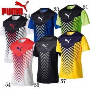 FTBLTRG グラフィック SS トレーニングシャツ PUMA プーマ  サッカー プラシャツ17SS(655385)|pitsports