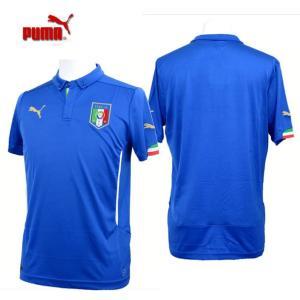 イタリア代表 キッズSSホームシャツ レプリカ 【PUMA】プーマ ●ジュニアレプリカシャツ ユニホーム 14SS (744294-01)|pitsports