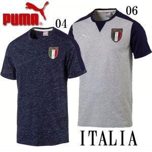 イタリア代表FIGC ITALIAアズーリグラフィックTシャツ【PUMA】プーマ  レプリカウェア17SS(752106)|pitsports