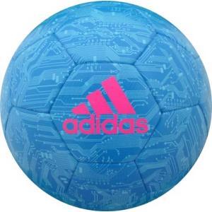 エックス ハイブリッド ブルー 5号球  adidas アディダス 5号球 サッカーボール 19AW(AF5664B)|pitsports