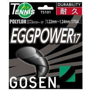 エッグパワー17 ブラック  GOSEN ゴーセン テニスコウシキ ガツト (TS101BK)