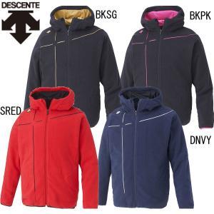 DESCENTE フリースジャケット  大好評のフード付きフリース。 フルオープン仕様で着脱も容易。...
