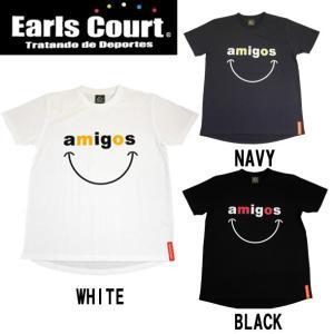 DRY フロッキースマイル Tシャツ Earls court アールズコート サッカー Tシャツ17SS(EC-T002)|pitsports