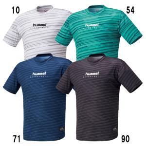 バスケット昇華半袖Tシャツ hummel ヒュンメル Tシャツ (HAPB4031)