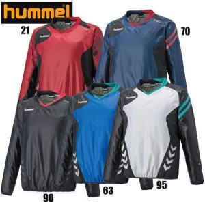 裏付きピステトップ hummel ヒュンメル ウィンドブレーカーシャツ(HAW4173)17AW