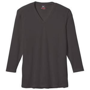 【ブレスサーモエブリ】Vネック長袖シャツ(大きいサイズ) 【MIZUNO】ミズノ アウトドア アンダーウエア ブレスサーモ