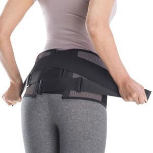 腰部骨盤ベルト(ワイドタイプ/補助ベルト付)(05ブラック×グレー)【MIZUNO】ミズノアウトドア サポーター 保護・固定タイプ(C3JKB50205)※25