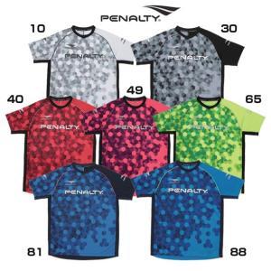 HEXグラデーショントップ 半袖【penalty】ペナルティーウェア 19ss 31ma31ju(pu9008)|pitsports
