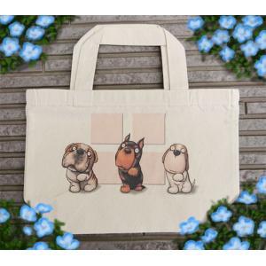 【代引不可】【ネコポス対応】犬さんのトートバッグ001 ピンク piyocyu-ash