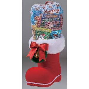 クリスマスブーツ お菓子入り 中 クリスマスプレゼント 景品 粗品 50個以上で御注文をお願いします