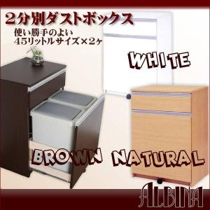 2分別ダストボックス【ホワイト】【ブラウン】【ナチュラル】◆◆2分別・3分別・ダストボックス,ダイニ...