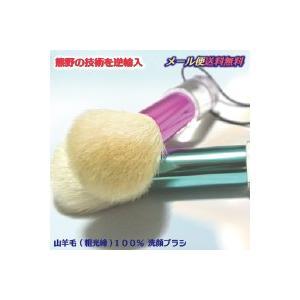 洗顔ブラシ 熊野筆 の技術を生かしたオリジナル洗顔ブラシ(数量限定 洗顔筆) メール便 送料無料 洗顔フォームや石鹸の泡立てに 2色からお選びください|plage