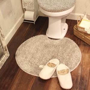 北欧シャギートイレマット(シロクマ 55×60cm)ファミーユベアー おしゃれ かわいい ナチュラル カントリー ふんわり 洗濯機OK 洗えるの写真
