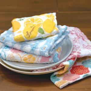 奈良の蚊帳生地で作った5枚合わせふきん 選べる16柄 日本製 和布華 洗うとふわふわ 布巾2 北欧キッチン雑貨 内祝お返し ギフトプレゼント お祝い plaisier