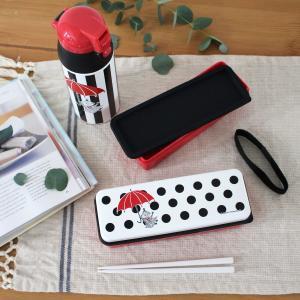 リトルミイ モノクロ 2段ランチボックス(箸付き)弁当箱 ムーミン 北欧 日本製|plaisier