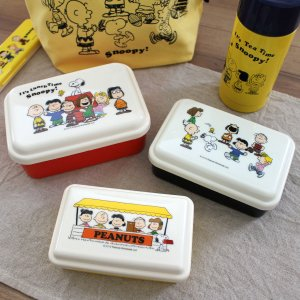 スヌーピー(LUNCHTIME)ドーム型入れ子式 シール容器3個セット 入学入園準備 お弁当箱 雑貨 おしゃれ かわいい シンプル ナチュラル 日本製|plaisier