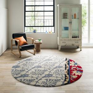 ラウンドラグ(ANNA アナ 150×150 円形)北欧カーペット カット&ループ 雑貨 おしゃれ かわいい 床暖房ホットカーペット対応 送料無料|plaisier