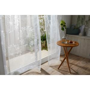 DESIGN LIFE 北欧デザイン レースカーテン(1枚)KUKKA VOILE クッカボイル(100×198)ウォッシャブル 国産 日本製 スミノエ 送料無料|plaisier