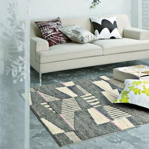 北欧デザイン ラグ(MOSAIC モザイク 130×190)DESIGN LIFE マット 防ダニ ホットカーペット 床暖房対応 国産 日本製 送料無料|plaisier