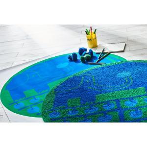 鈴木マサル コラボマット(リンゴノキ 90×90cm)チェアパッド 北欧 ミニラグ 日本製 雑貨 おしゃれ かわいい 国産 ムーミン 送料無料|plaisier