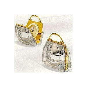 スワロフスキー Swarovski 2004年 廃盤品 『Secrets Handbag Clock』 210820