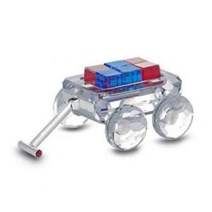 スワロフスキー Swarovski 2004年 廃盤品 『おもちゃのワゴン, ロジウムコーティング』 289647