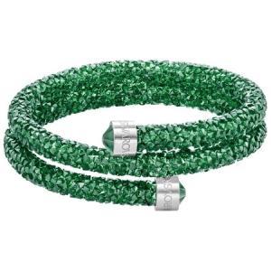 スワロフスキー Swarovski 『Crystaldust バングル Double, Green, M』 5273642