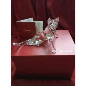 Baccarat バカラ『猫 ネコ TAIL UP フィギュリン』です。 美しいネコのフィギュリンで...