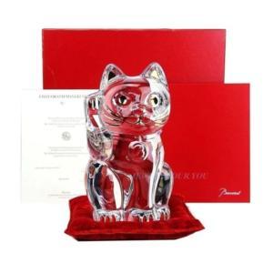 Baccarat バカラ『猫 招き猫 キャット フィギュリン』です。 お祝いやプレゼントにぴったりで...