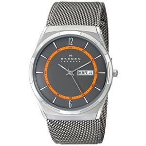 当店1年保証 スカーゲンSkagen Men's Melbye Quartz Titanium and Stainless Steel Mesh Casual Watch, Color: Grey (Model: S|planetdream