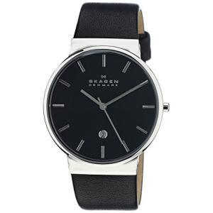 当店1年保証 スカーゲンSkagen Men's Ancher Quartz Stainless Steel and leather Watch Color: Silver, Black (Model: SKW610|planetdream
